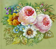 Ramo rosado stock de ilustración