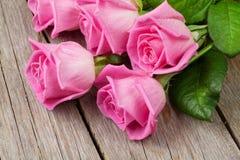 Ramo rosado de las rosas Imagen de archivo