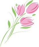 Ramo rosado de los tulipanes Fotografía de archivo libre de regalías