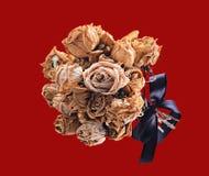 Ramo secado de rosas Fotos de archivo libres de regalías