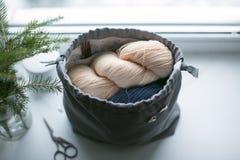 Ramo suave de las lanas y de la Navidad Fotos de archivo libres de regalías