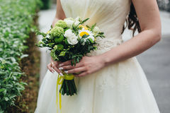 ` Ramo verde y amarillo de s de la novia Fotos de archivo libres de regalías