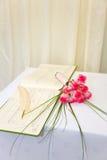 Ramo y registro de la boda fotos de archivo libres de regalías