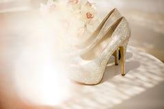 ramo y talones de lujo para la novia Imagen de archivo libre de regalías