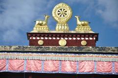 Ramoche寺庙屋顶  免版税库存图片