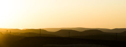 ramon火山口的沙漠 库存图片