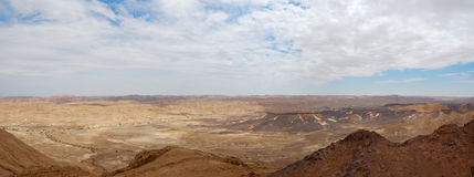 Ramon Canyon panorama, Israel Stock Photo