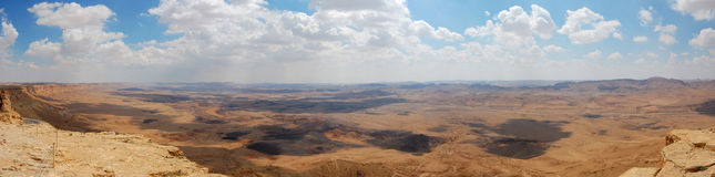 Ramon Canyon panorama, Israel Royalty Free Stock Image