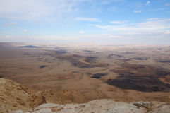 Ramon Crater desert, Israel Royalty Free Stock Image