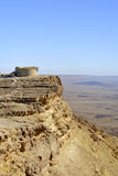Ramon crater edge, Negev desert. Royalty Free Stock Image
