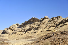 Ramon crater edge in Negev. Royalty Free Stock Photography
