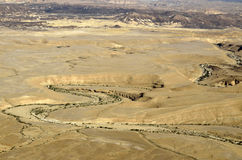 Ramon crater landscape in Negev desert. Stock Photos