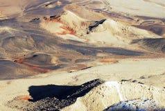 Ramon Crater Makhtesh Ramon - l'Israël Photos libres de droits