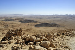 Ramon crater in Negev desert. Stock Photography
