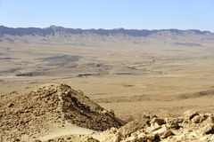 Ramon crater in Negev desert. Royalty Free Stock Image