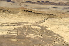 Ramon crater in Negev desert. Royalty Free Stock Photo