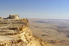 Ramon crater in Negev desert. Royalty Free Stock Images