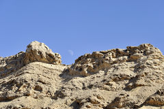 Ramon crater ridge in Negev desert. Stock Photo