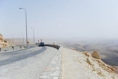 Ramon Crator road. Road leading to Ramon Crator in Israel Stock Image