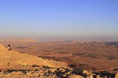 Ramon krater i den Negev öknen Royaltyfri Foto