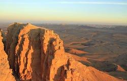 Ramon krater i den Negev öknen Arkivbild
