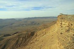 Ramon krater i den Negev öknen Royaltyfria Bilder