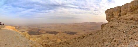 Ramon krater. Panorama Zdjęcia Stock