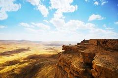 Ramon Nature reserv, Mitzpe Ramon, Negev öken, Israel royaltyfria foton