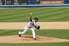 Ramon Ortiz. Los Angeles Dodgers' pitcher Ramon Ortiz in action Royalty Free Stock Image