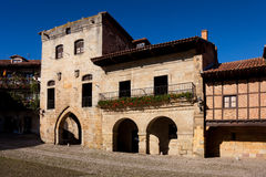 Ramon Pelayo square, Santillana del Mar Stock Image