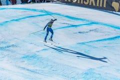RAMONA SIEBENHOFER AUT participa na corrida para a raça SUPER de G o WOMANÂ dos FINAIS do MUNDO do ESQUI do FIS Ski World Cup alp foto de stock royalty free