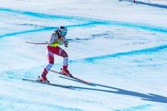 RAMONA SIEBENHOFER AUT participa na corrida para a raça SUPER de G o WOMANÂ dos FINAIS do MUNDO do ESQUI do FIS Ski World Cup Fin imagem de stock