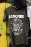 Ramones庞克摇滚乐音乐T恤杉 免版税库存照片
