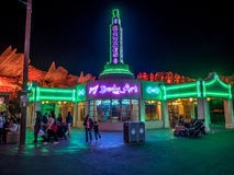 Ramones at night in Carsland at Disney California Adventure Park Royalty Free Stock Photos