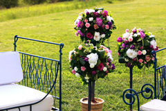 Ramos de la boda de flores de las rosas de los peonies Imagen de archivo libre de regalías