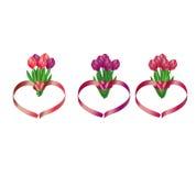 Ramos del tulipán stock de ilustración