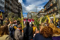 Ramos Domingo en Vigo - Galicia, España Imagen de archivo libre de regalías