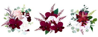 Ramos estacionales de lujo del vector libre illustration