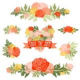 Ramos florales Imágenes de archivo libres de regalías