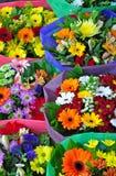 Ramos florales del gerber colorido Foto de archivo libre de regalías