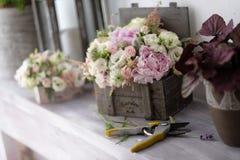 Ramos nupciales de flores para casarse evento Imagenes de archivo
