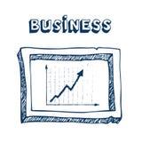 ramowa biznes grafika Zdjęcia Stock