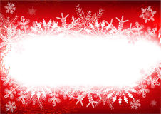 ramowa czerwona zima Zdjęcia Royalty Free