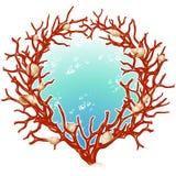 ramowa koral czerwień royalty ilustracja