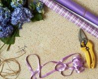 Ramowa pracujących narzędzi kwiaciarnia Obraz Stock