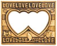 ramowa złocista miłość Zdjęcia Stock