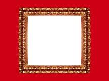 ramowa złota czerwone tło Zdjęcia Royalty Free