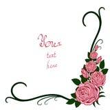 ramowe różowe róże Obraz Royalty Free