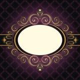 Ramowe rocznik purpury Zdjęcia Royalty Free