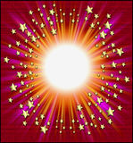 ramowe spadające gwiazdy royalty ilustracja